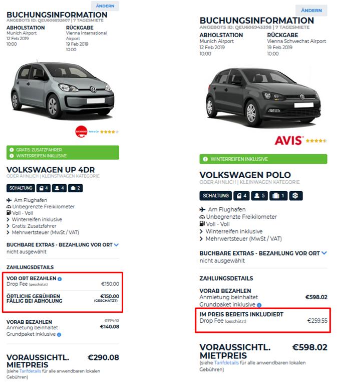 Einwegmiete Mit Auto Europe Ohne Versteckte Kosten